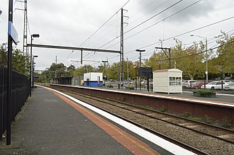 Surrey Hills railway station - Eastbound view from Platform 3 in May 2014