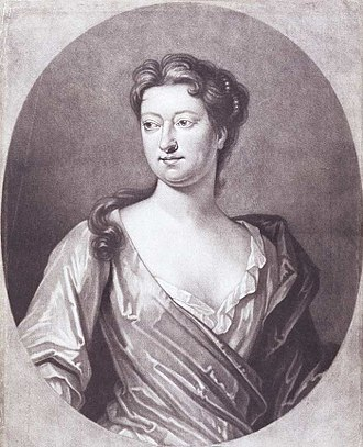 Susanna Centlivre - A mezzotint of Susanna Centlivre by Peter Pelham (1720) originally painted by D. Fermin