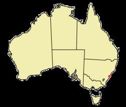 Localización en Australia.