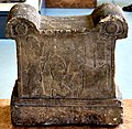 Symbolic base with a cuneiform inscription and depiction of Tukulti-Ninurta I, 13th century BCE. From Assur, Iraq. Pergamon Museum.jpg
