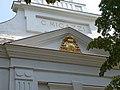 Szent Erzsébet-templom, C. Migazzi címer a timpanonban, 2019 Veresegyház.jpg
