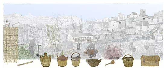 adornos para cestas de mimbre Cesta Wikipedia La Enciclopedia Libre