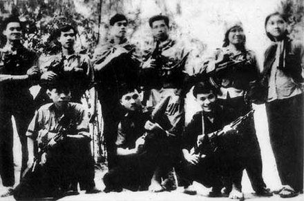 Viet Cong before departing to participate in the Tet Offensive around Saigon-Gia Dinh T4 Vietcong Tet Offensive.jpg