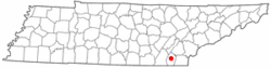 Location of Cleveland, Tennessee