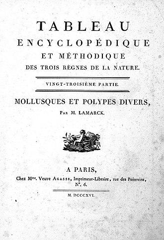 """Jean Guillaume Bruguière - cover of the book """"Tableau Encyclopédique et Methodique des Trois Règnes de la Nature"""""""