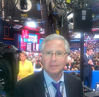 Howard Fineman - Fineman at the 2012 Republican National Convention in Tampa, Florida at the moment Romney was nominated