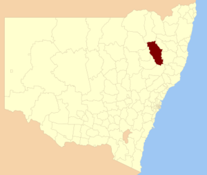 Tamworth Regional Council - Location in New South Wales