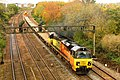 Taunton East - Colas 70811 Exeter to Westbury engineers flats.JPG