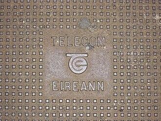 Eir (telecommunications) - Telecom Éireann manhole cover