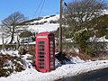Telephone Call Box at Chweffordd, with Cefn Du in the Background - geograph.org.uk - 131467.jpg
