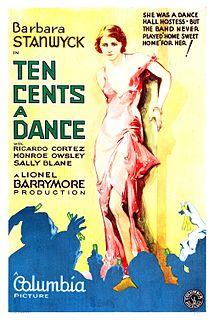 <i>Ten Cents a Dance</i> (1931 film) 1931 film