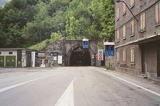 Col de Tende Road Tunnel - Portal on Italian side