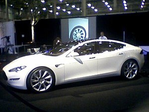 Photo of the Tesla Model S, from the unveiling...