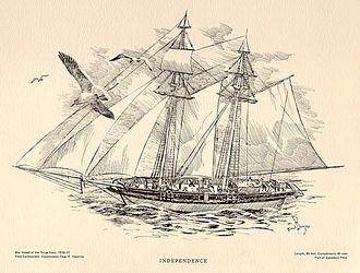 Ingham incident - Image: Texan schooner Independence 2