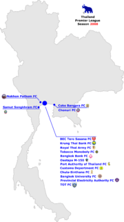 Thailand Premier League 2008 Map.png