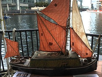 Thames sailing barge - Model of the stackie Venta