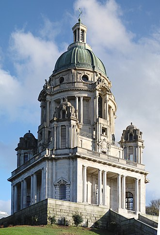 Ashton Memorial - The Ashton Memorial at the top of Williamson Park