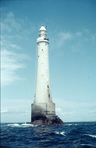 Bishop Rock, Isles of Scilly - Bishop Rock lighthouse in 1966