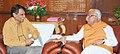 The Chief Minister of Haryana, Shri Manohar Lal Khattar meeting the Union Minister for Railways, Shri Suresh Prabhakar Prabhu, in New Delhi on August 06, 2015 (1).jpg