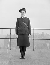 The Correct Angle at Which the New WRNS Hat Is To Be Worn. A8323.jpg