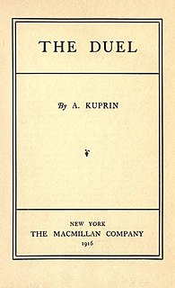 <i>The Duel</i> (Kuprin novel) novel by Aleksandr Kuprin