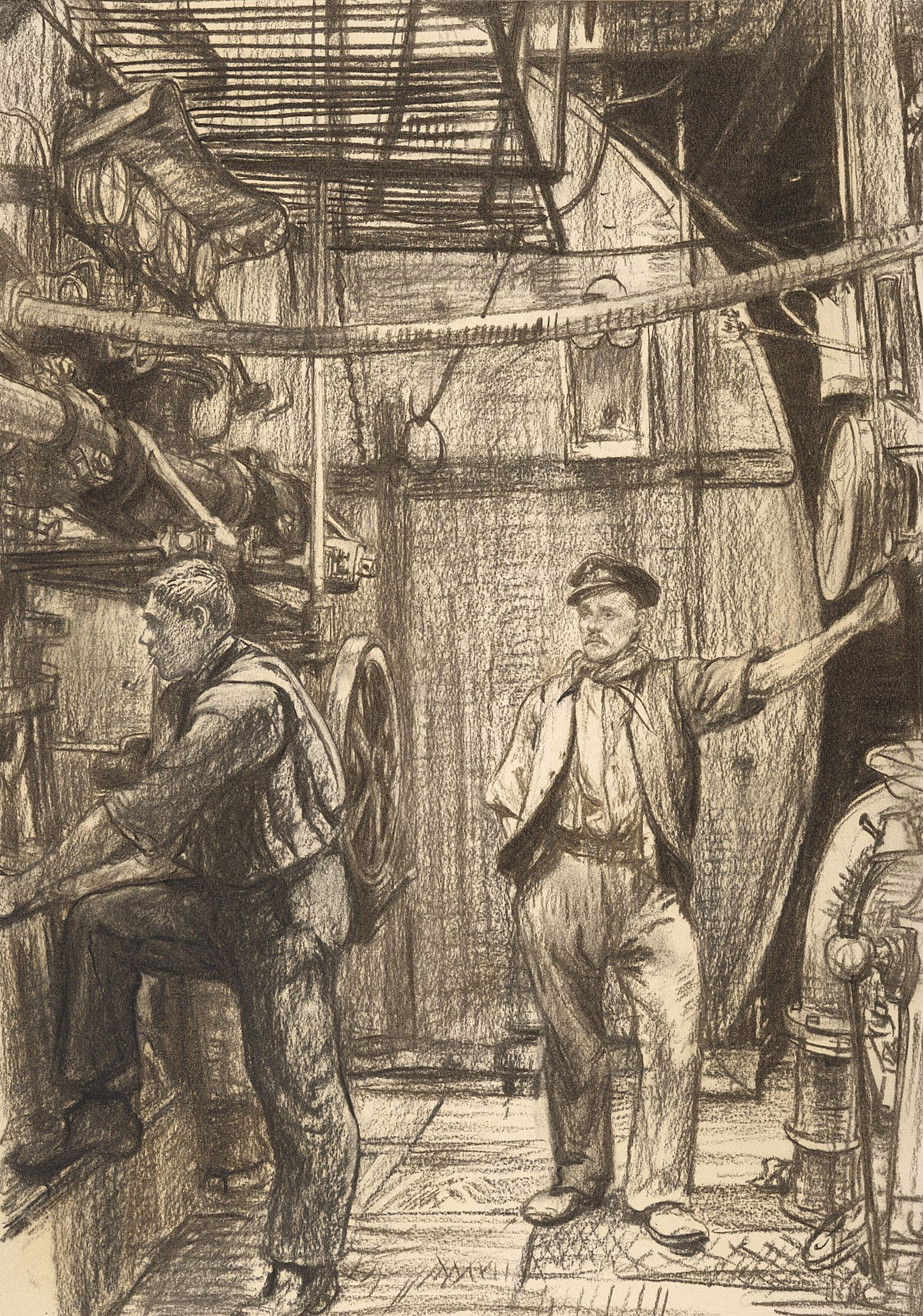 Trawler Engine Room: File:The Engine Room, Hm Trawler Mackenzie Art.IWMART897