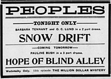 The Hopes of Blind Alley 1914 newspaper.jpg