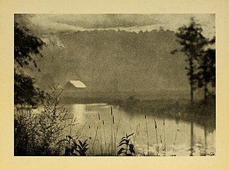 Cussewago Creek - A 1922 photograph of Cussewago Creek