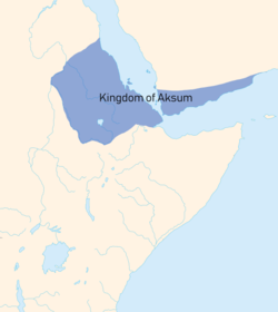 Aksum, shown in blue