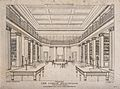 The London Institution; the interior of the library. Engravi Wellcome V0013224.jpg