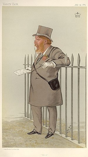 Frederick Gough-Calthorpe, 5th Baron Calthorpe - Caricature by Spy published in Vanity Fair in 1885.