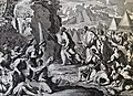 The Phillip Medhurst Picture Torah 413. Moses striking the rock. Exodus cap 17 vv 5-6. Potre.jpg
