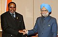 The Prime Minister, Dr. Manmohan Singh meeting the President of Republic of Malawi, Ngwazi Prof. Bingu wa Mutharika on the sidelines of the 2nd Africa-India Forum Summit (AIFS), in Addis Ababa, Ethiopia on May 24, 2011.jpg