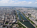 The Seine from top of the Eiffel Tower, Paris June 2014.jpg