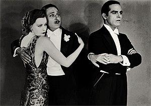 The Temptress - Greta Garbo, Armand Kaliz, and Antonio Moreno in The Temptress