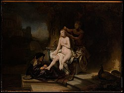 Rembrandt: Bathsheba at her Toilette