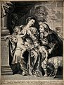 The Virgin Mary breast feeding Christ whilst John the Baptis Wellcome V0015022.jpg