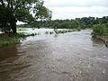The Western Cleddau in flood at St Catherine's Bridge - geograph.org.uk - 1405063.jpg