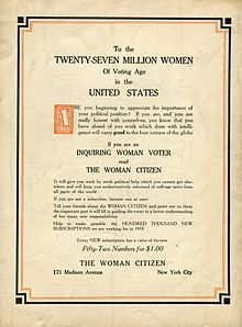 woman suffrage movement thesis statement