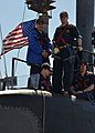The attack submarine USS Dallas (SSN 700) leaves Groton, Conn., May 3, 2013 130503-N-TN558-044.jpg