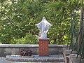 The chapel of Saint Gellért Lazariston. Sculpture in the courtyard. Monument ID 8218 - Budapest District XI., Ménesi Rd. 26.JPG