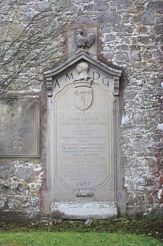 John Dewar, 2nd Baron Forteviot - The grave of John Dewar, 2nd Baron Forteviot, Aberdalgie