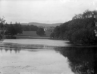 The lake and Plas Coed-coch, Betws-yn-Rhos