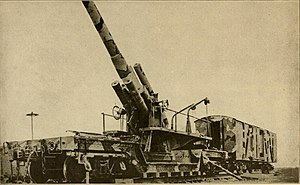 United States Army Coast Artillery Corps - 8-inch M1888 railway gun with ammunition wagon.
