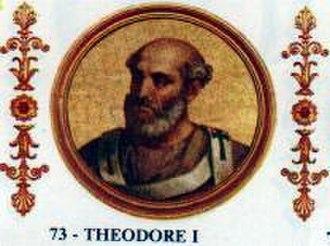 Pope Theodore I - Image: Theodorus I