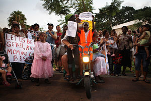 English: Demonstration against the expulsion o...