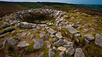Tibradden Mountain - The open cairn with pseudo-passage leading to the centre.