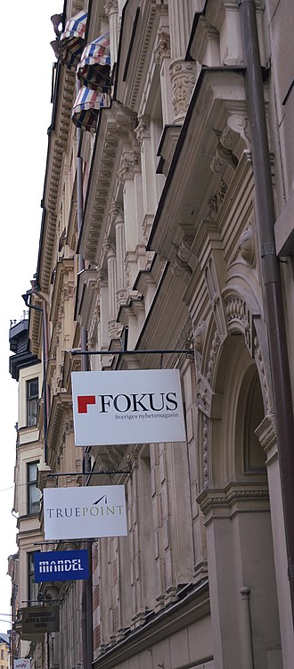 Fokus (magazine) - The paper's office is situated at Wallingatan in Stockholm.