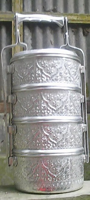 Tiffin carrier - Image: Tiffin box made in Thailand