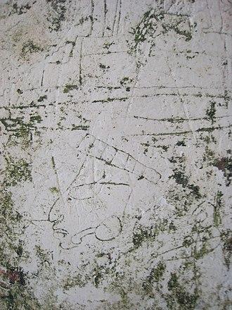 Ancient Maya graffiti - Image: Tikal graffiti
